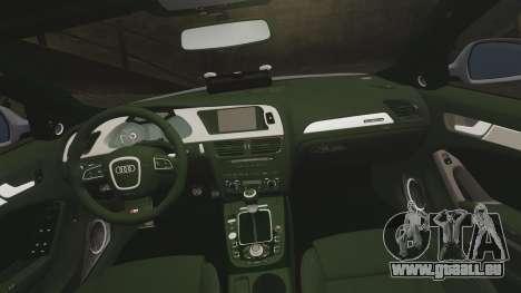 Audi S4 Unmarked Police [ELS] pour GTA 4 est un côté