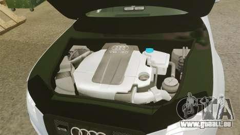 Audi S4 Unmarked Police [ELS] pour GTA 4 est une vue de l'intérieur