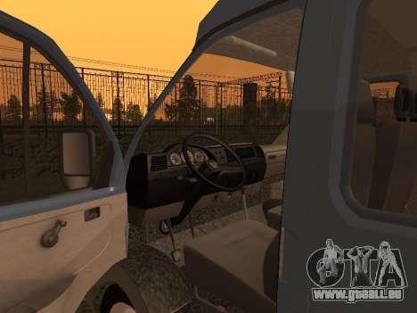 33023 GAZelle pour GTA San Andreas vue arrière