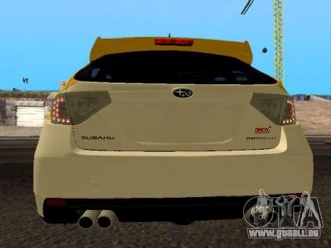 Subaru Impreza STi für GTA San Andreas zurück linke Ansicht