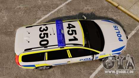 Volvo V70 II Swedish Police [ELS] pour GTA 4 est un droit