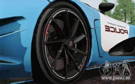 Koenigsegg Agera R für GTA San Andreas Seitenansicht