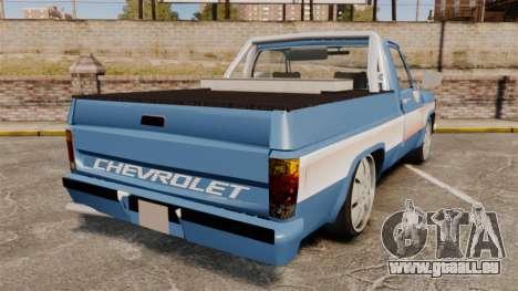 Chevrolet D-20 Custom pour GTA 4 Vue arrière de la gauche
