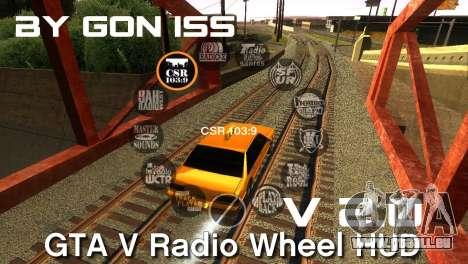 GTA 5 Radio HUD pour GTA San Andreas