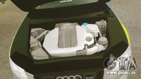 Audi S4 ANPR Interceptor [ELS] pour GTA 4 est une vue de l'intérieur