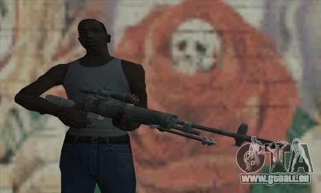 M21 de COD 4 Modern Warfare pour GTA San Andreas troisième écran