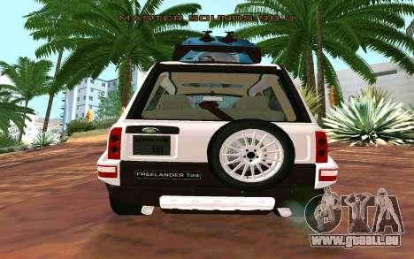 Land Rover Freelander pour GTA San Andreas laissé vue
