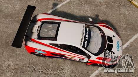 McLaren MP4-12C GT3 für GTA 4 rechte Ansicht