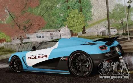 Koenigsegg Agera R pour GTA San Andreas vue arrière