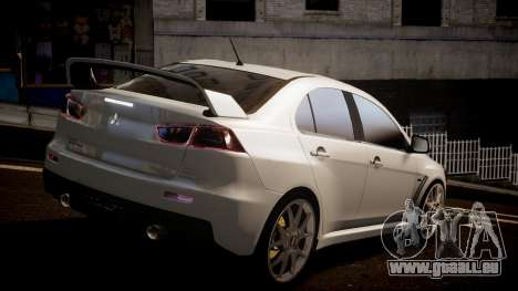 Mitsubishi Lancer Evolution X 2009 v1.3 für GTA 4 linke Ansicht