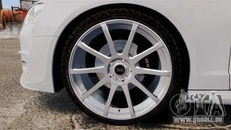 Audi S4 Unmarked Police [ELS] pour GTA 4 Vue arrière