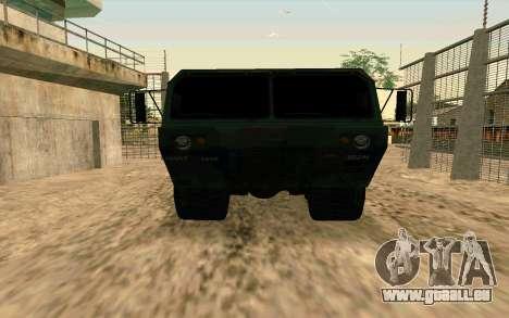 HEMTT Heavy Expanded Mobility Tactical Truck M97 pour GTA San Andreas vue de droite