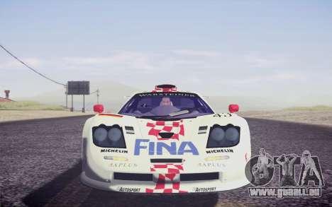 McLaren F1 GTR Longtail 22R pour GTA San Andreas vue de dessous