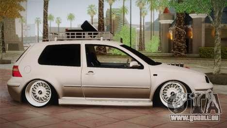 Volkswagen Golf IV Hellaflush pour GTA San Andreas laissé vue