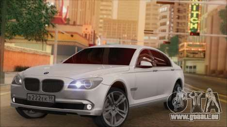 BMW 750i für GTA San Andreas Rückansicht