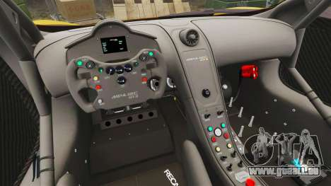 McLaren MP4-12C GT3 pour GTA 4 est une vue de l'intérieur