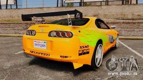 Toyota Supra RZ 1998 (Mark IV) Bomex kit für GTA 4 hinten links Ansicht