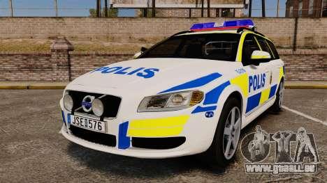 Volvo V70 II Swedish Police [ELS] pour GTA 4
