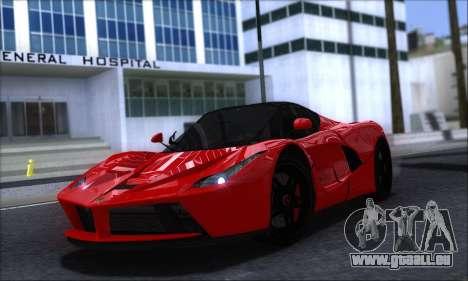 Ferrari LaFerrari v1.0 pour GTA San Andreas laissé vue