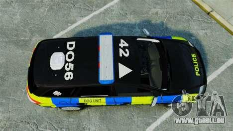 Ford Mondeo Estate Police Dog Unit [ELS] für GTA 4 rechte Ansicht