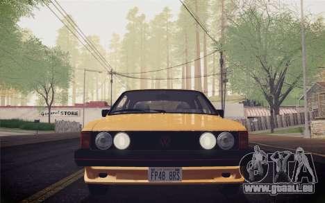 Volkswagen Scirocco S (Typ 53) 1981 IVF für GTA San Andreas Innenansicht
