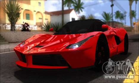 Ferrari LaFerrari v1.0 pour GTA San Andreas vue de droite