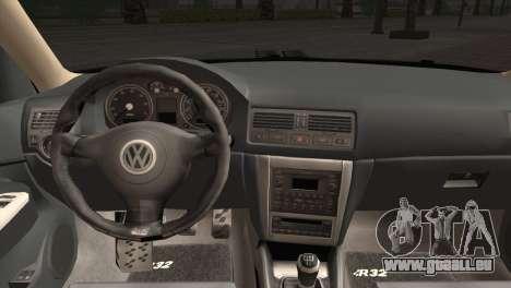 Volkswagen Golf IV Hellaflush pour GTA San Andreas vue arrière