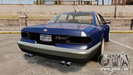 Civil Cruiser pour GTA 4 Vue arrière de la gauche