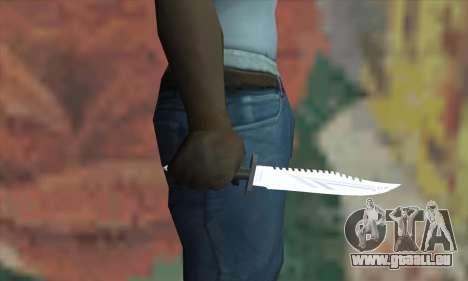 Couteau Rambo pour GTA San Andreas troisième écran