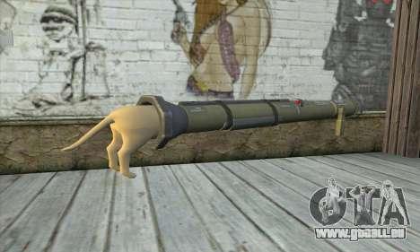 Der Raketenwerfer aus Pstal 3 für GTA San Andreas zweiten Screenshot