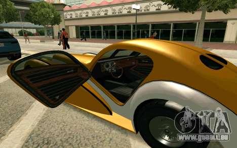 GTA V Z-type pour GTA San Andreas sur la vue arrière gauche