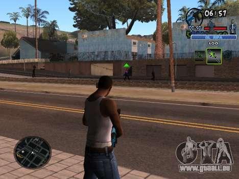 С-HUD Vieux Rifa pour GTA San Andreas deuxième écran