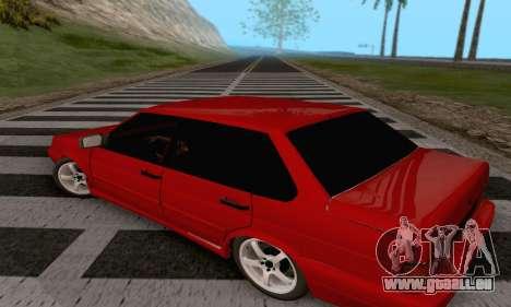 VAZ 2115 Diod pour GTA San Andreas sur la vue arrière gauche