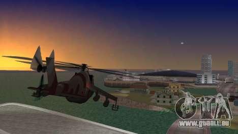 Mil Mi-24-Krokodil für GTA Vice City linke Ansicht