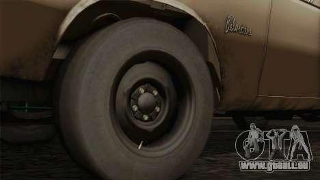 Plymouth Belvedere 2-door Sedan 1965 für GTA San Andreas zurück linke Ansicht