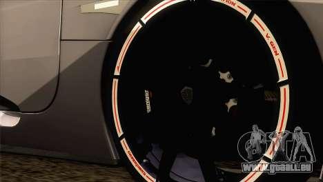 Koenigsegg CCX 2006 Autovista pour GTA San Andreas sur la vue arrière gauche