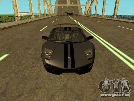 Lamborghini Murcielago LP670-4 SV Team Ravenwest für GTA San Andreas Innenansicht
