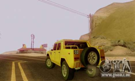 Lamborghini ML002 pour GTA San Andreas vue de dessous