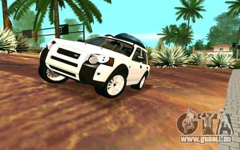 Land Rover Freelander für GTA San Andreas Rückansicht