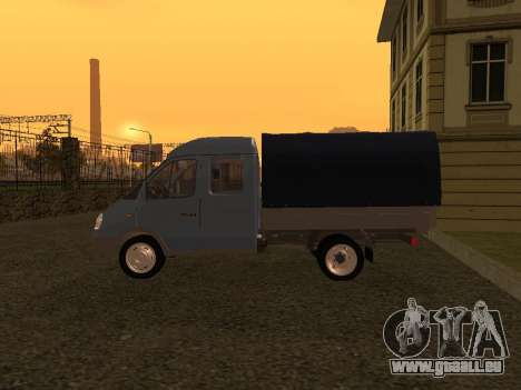 33023 GAZelle pour GTA San Andreas sur la vue arrière gauche