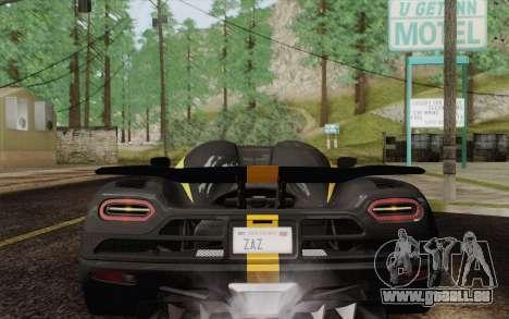 Koenigsegg Agera R für GTA San Andreas Motor