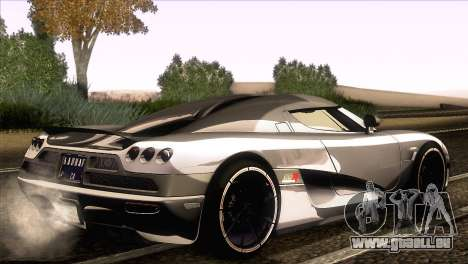 Koenigsegg CCX 2006 Autovista pour GTA San Andreas laissé vue