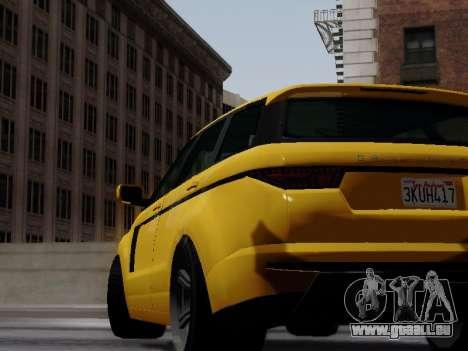 Baller 2 из GTA V pour GTA San Andreas sur la vue arrière gauche