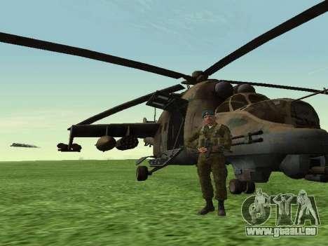 Grenadier De Troupes Aéroportées pour GTA San Andreas quatrième écran