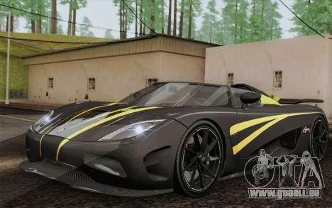 Koenigsegg Agera R für GTA San Andreas Innen
