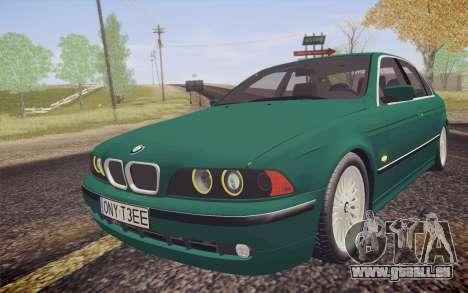 BMW M5 E39 528i Greenoxford pour GTA San Andreas vue arrière