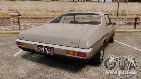 Holden Monaro GTS 1971 für GTA 4 hinten links Ansicht