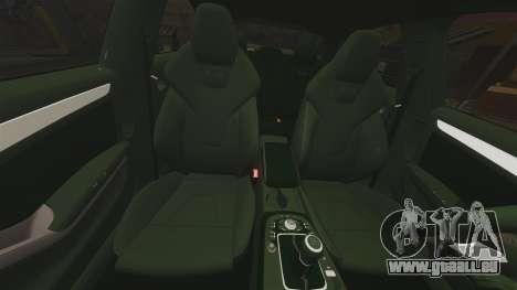 Audi S4 Unmarked Police [ELS] pour GTA 4 vue de dessus