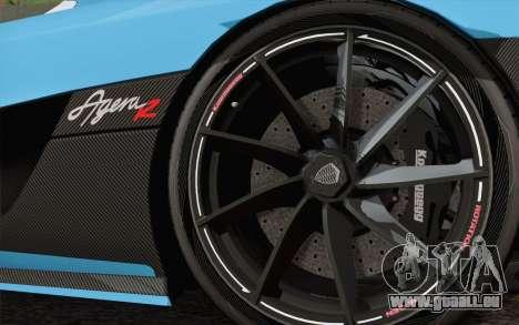 Koenigsegg Agera R für GTA San Andreas Innenansicht