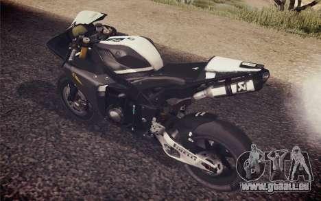 Yamaha YZF R1 2012 Black pour GTA San Andreas sur la vue arrière gauche